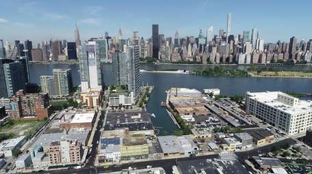 An aerial view of the Long Island City