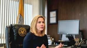 Democratic Hempstead Town Supervisor Laura Gillen talked about