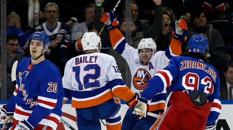 Josh Bailey s late goal gives Islanders win over Rangers at the ... 682c45d64