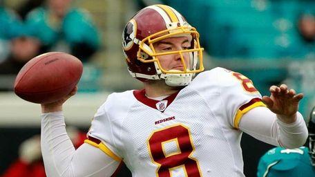 Quarterback Rex Grossman #8 of the Washington Redskins