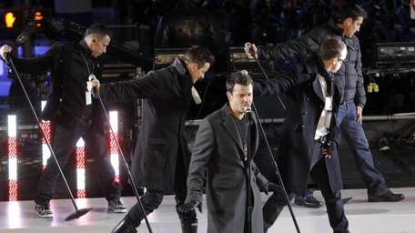 The New Kids on the Block perform for