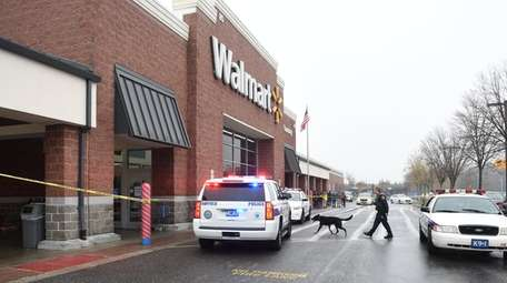 Police respond to the Walmart on Crooked Hill