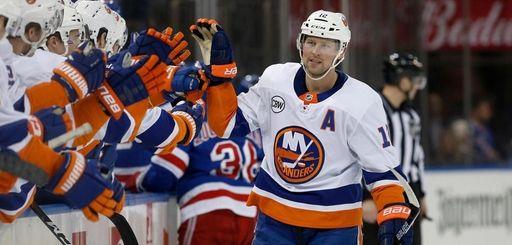 Josh Bailey of the Islanders celebrates his goal