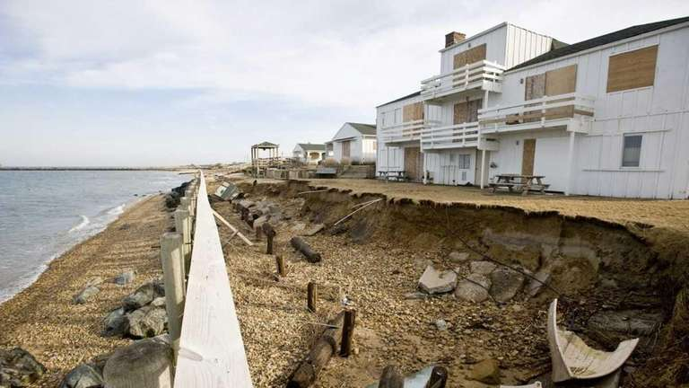Erosion that was worsened by the recent blizzard