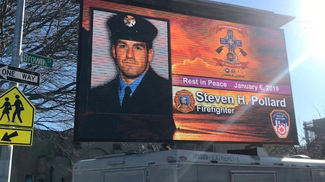 On Friday, afuneral was held forfirefighter Steven Pollard,