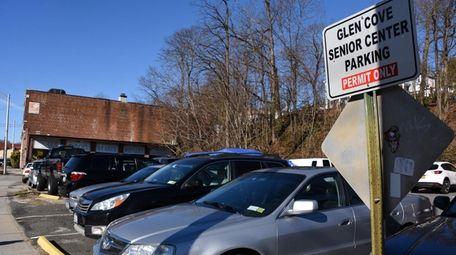 The Glen Street parking lot, seen on Friday,