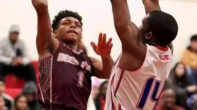 Deer Park's Malik Edmead puts the layup in