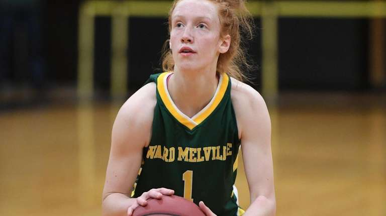 Ward Melville's Lauren Hansen shoots a free throw