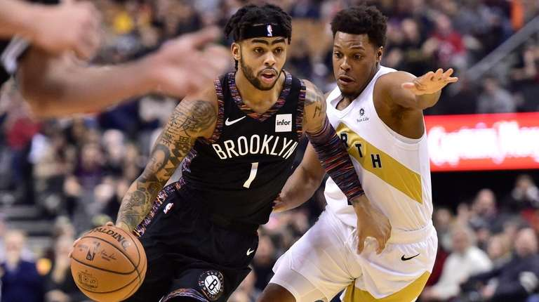 Nets guard D'Angelo Russell, who had 24 points
