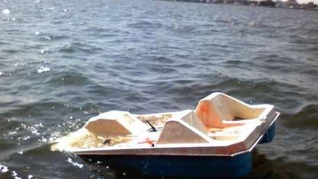 A paddleboat was found unmanned and adrift in