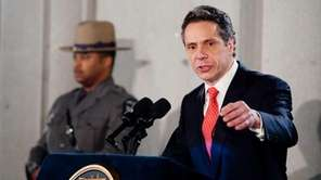 New York Gov. Andrew Cuomo speaks at his
