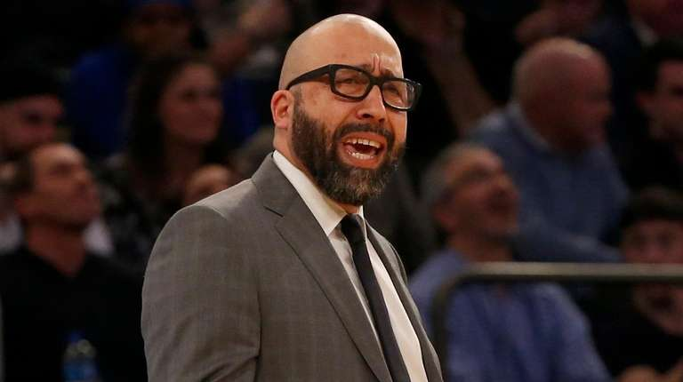 Knicks head coach David Fizdale reacts during the
