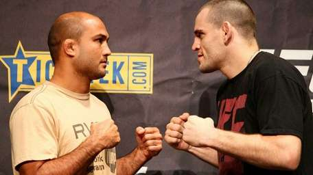 BJ Penn and Jon Fitch face off during