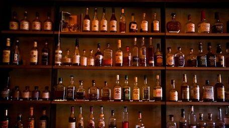 Char No. 4's wall of whiskey (Talia Herman)