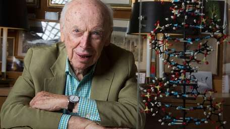 James Watson in his office at his Cold