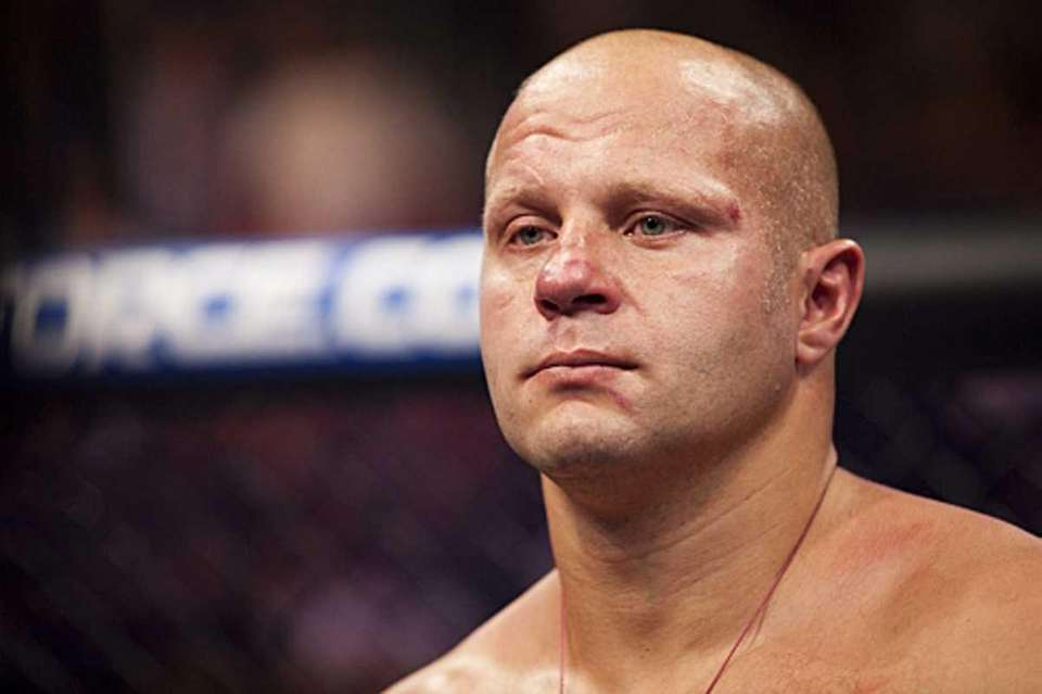 Fedor Emelianenko at a Strikeforce fight against Fabricio