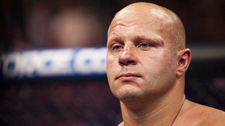 Fedor Emelianenko at a Strikeforce fight against Fabricio