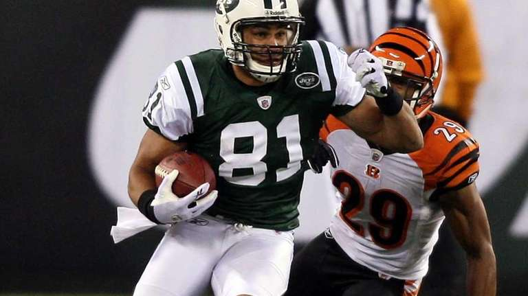 Jets tight end Dustin Keller didn't exactly fan