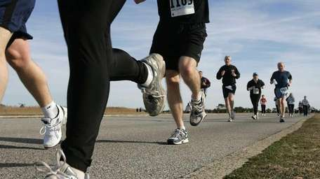 A file photo of runners participating in a