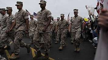 Marine reservists returning from Iraq to Garden City