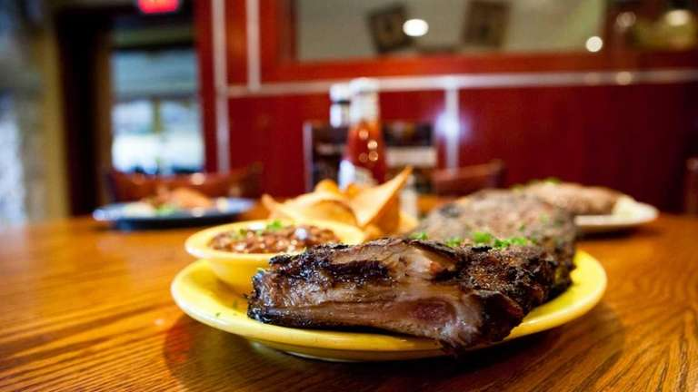 A full rack of St. Louis ribs is