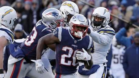New England Patriots running back Sony Michel (26)