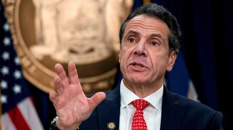 Gov. Andrew M. Cuomo at his Manhattan office