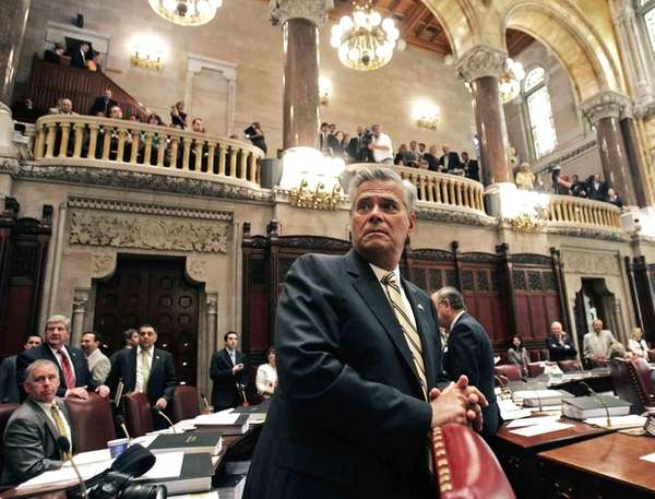 Dean Skelos, R-Rockville Centre, waits in the NY
