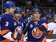The Islanders' Cal Clutterbuck, second from left, celebrates