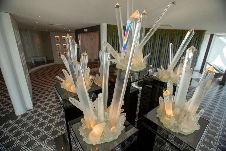 Crystals in the Spa on the Celebrity EDGE