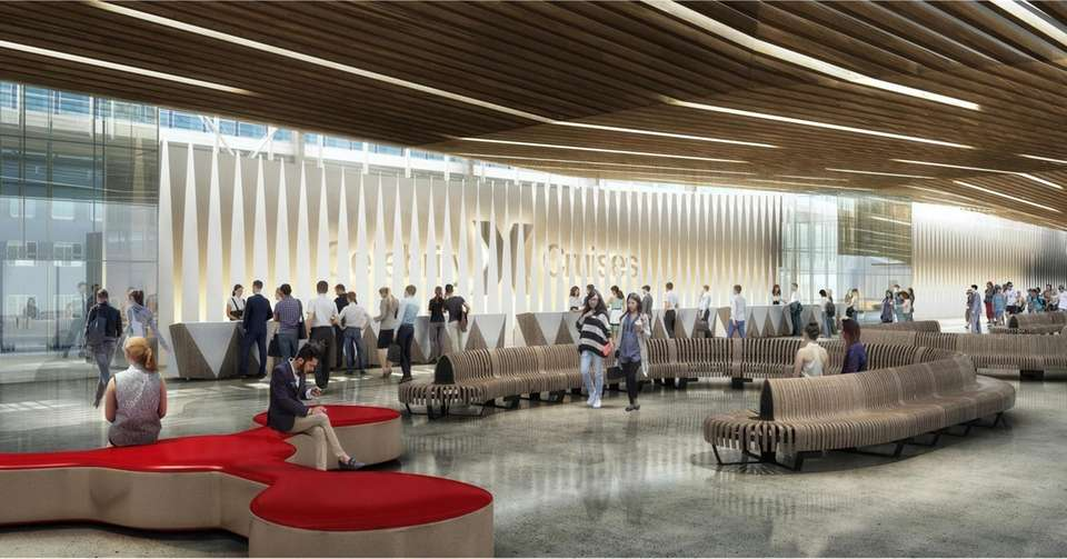An artist's rendering shows Celebrity Cruise's Terminal 25