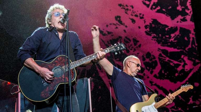 Roger Daltrey, left, and Pete Townshend of The