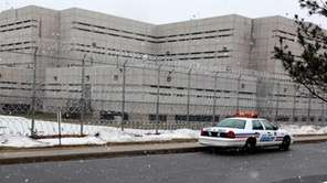 The exterior of the Nassau County jail facility