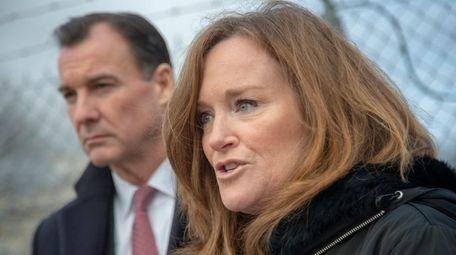 U.S. Reps. Tom Suozzi and Kathleen Rice speak