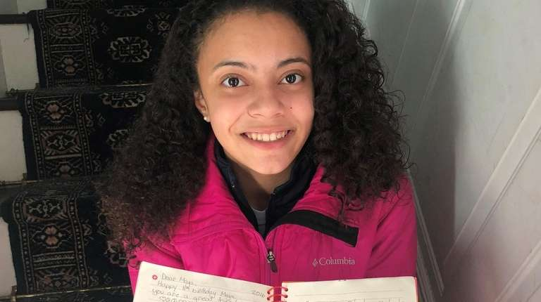 Maya Cullen-Conyers, 13, of Lynbrook, with the birthday