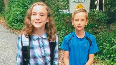 Kidsday reporters and neighbors Joan Yantsos and Jacob