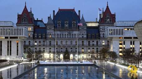 The state Capitol in Albany, seen on Wednesday.