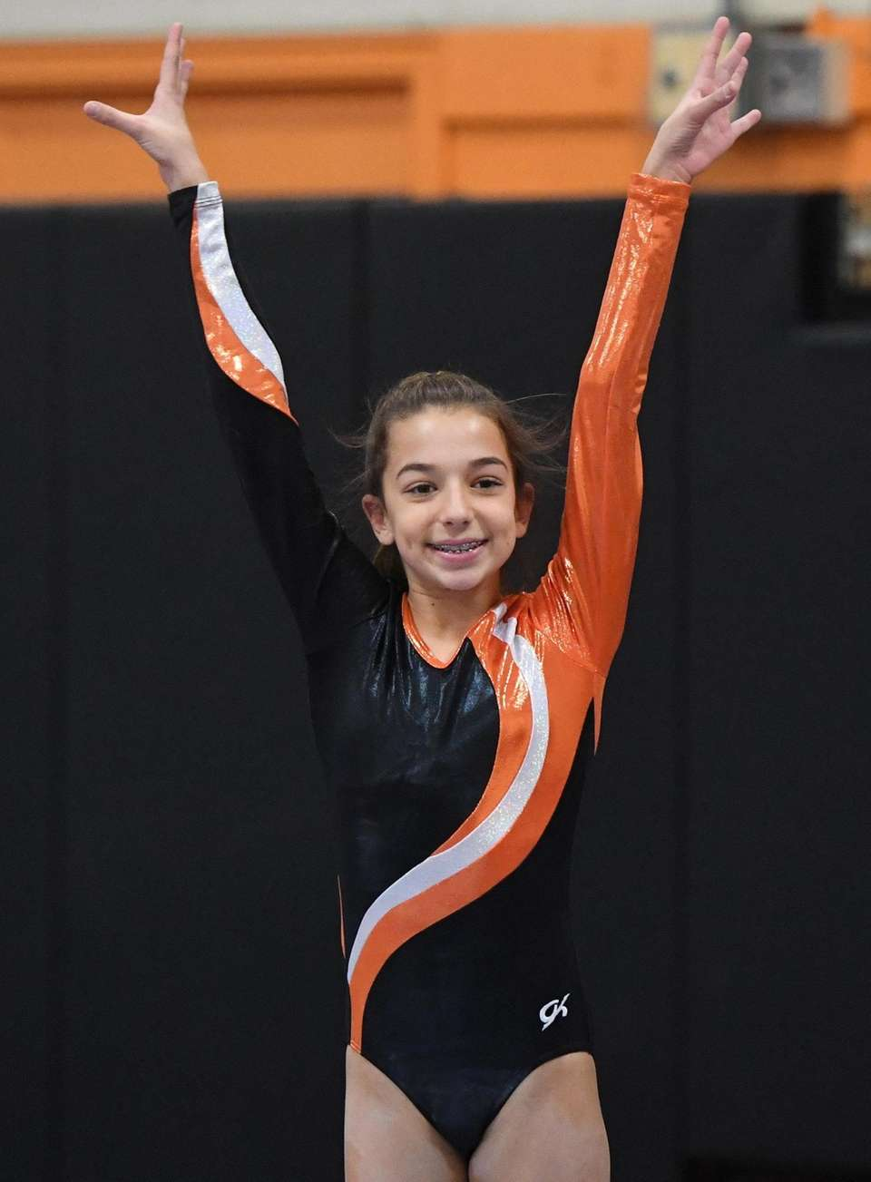 Hicksville's Carly Seiden competes on the balance beam