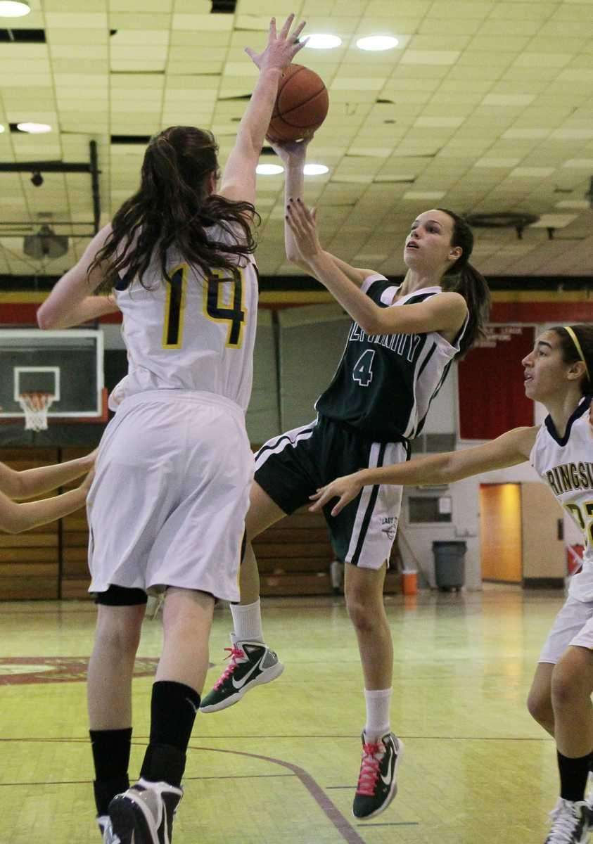 Katie Lavelle of Holy Trinity takes a shot