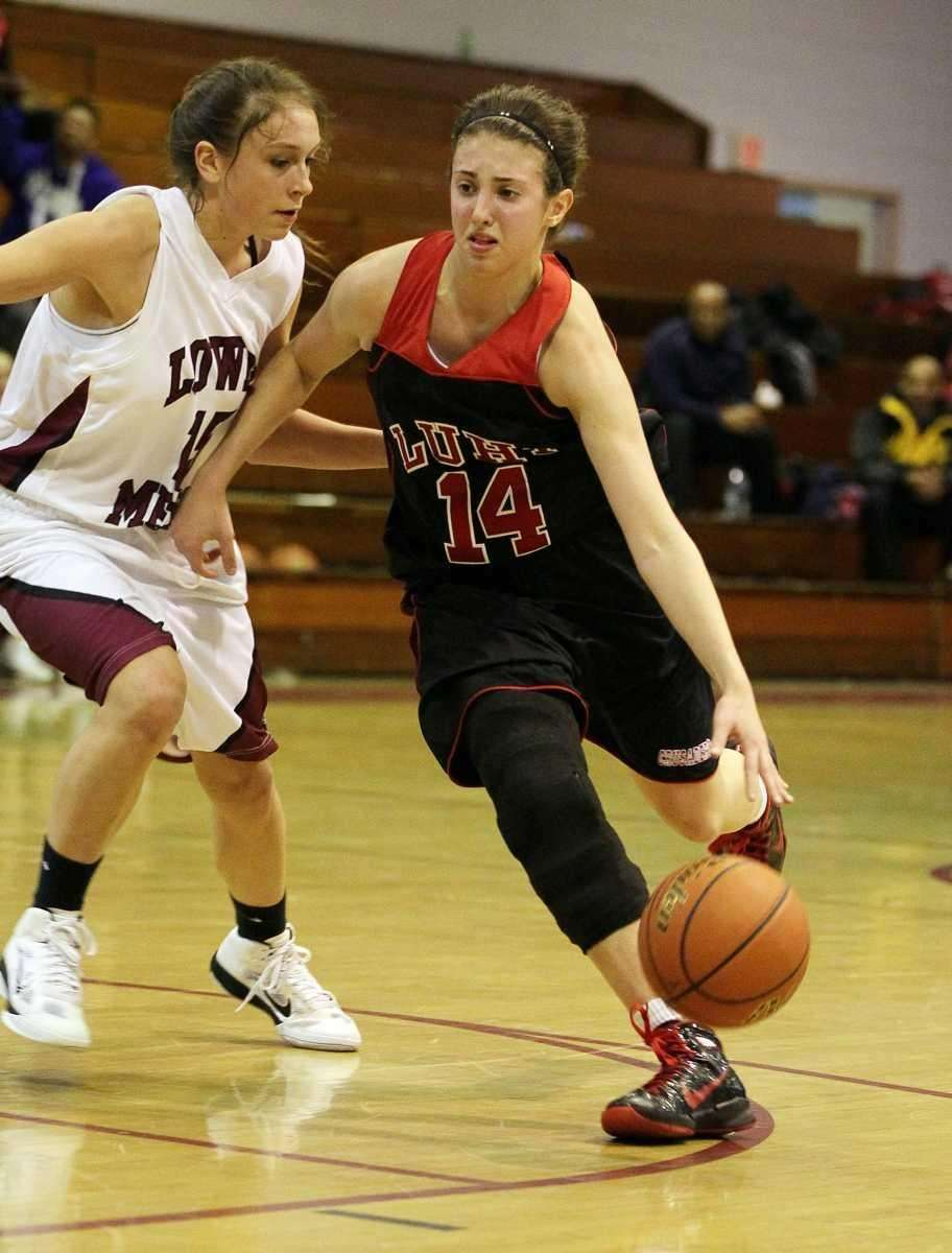 Paige Krifcher of Long Island Lutheran controls the