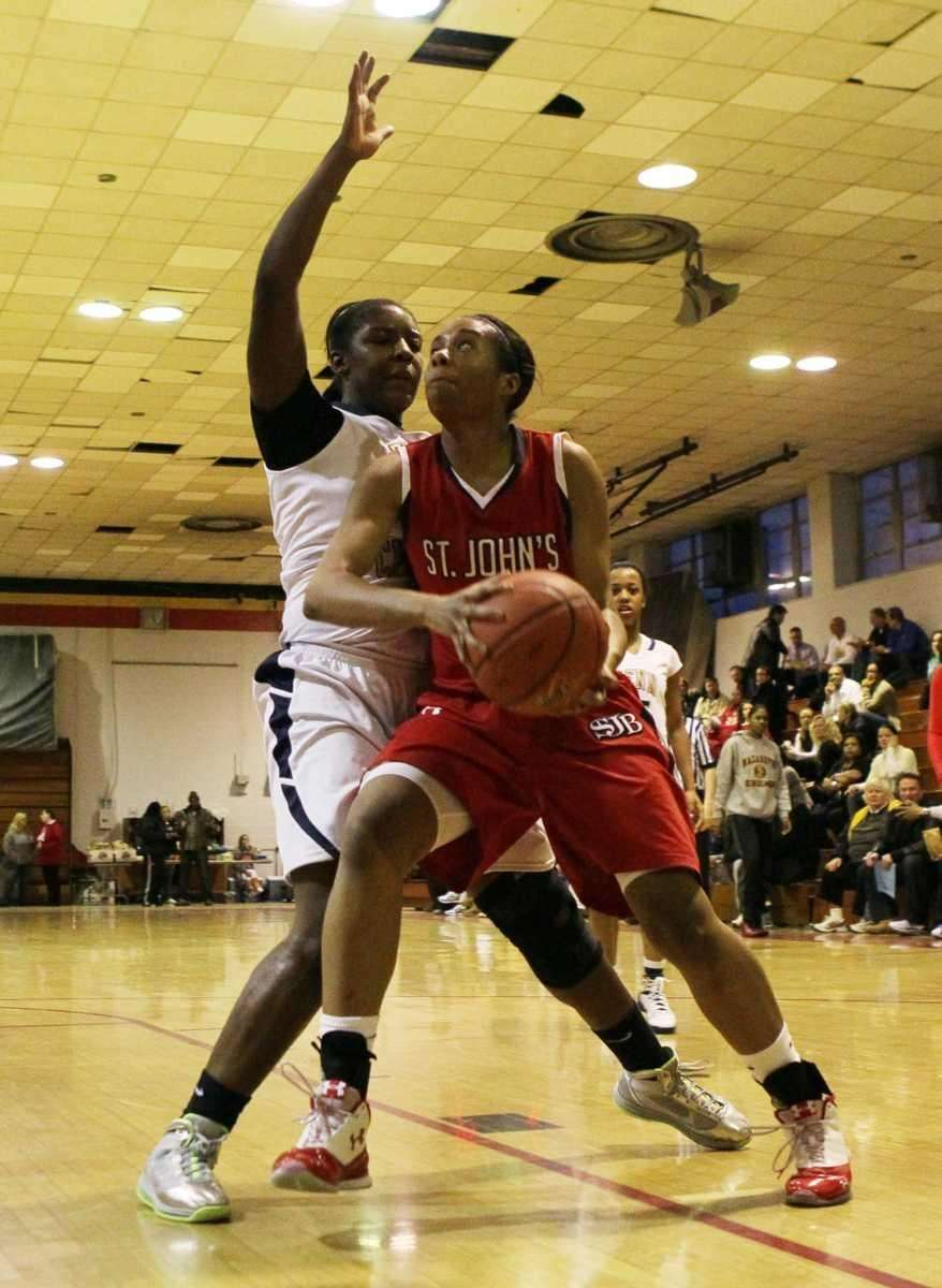 Anastasia Williams of St. John the Baptist battles