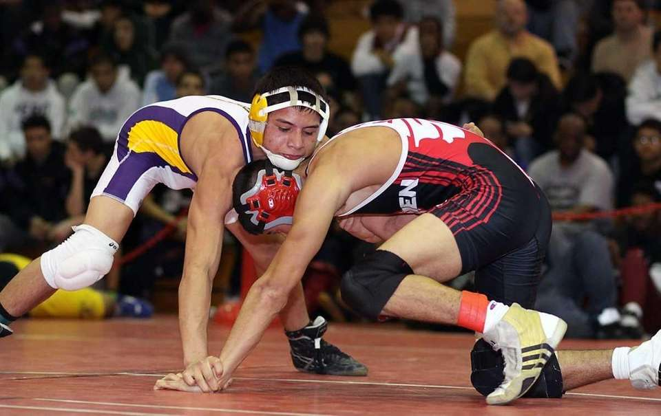 Central Islip's Giovani Sanchez, left, defeated David Dellaveccia