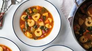 Spinach, tomatoes, carrots and parsnip combine with frozen