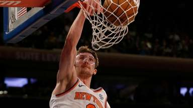 Luke Kornet #2 of the New York Knicks