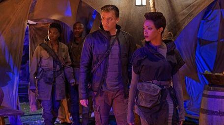 From left, Oyin Oladejo as Joann Owosekun; Anson
