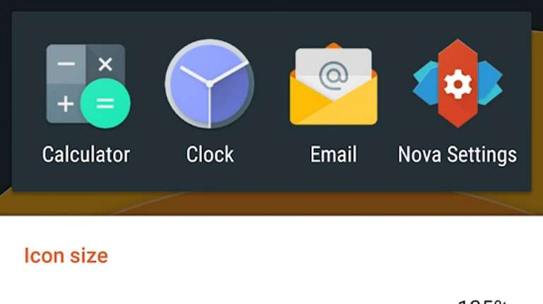 The Nova Launcher app enables users to customize