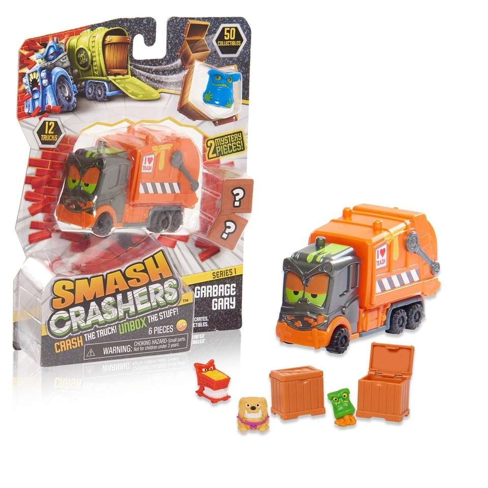These vehicles feature a collectible twist. Crash the