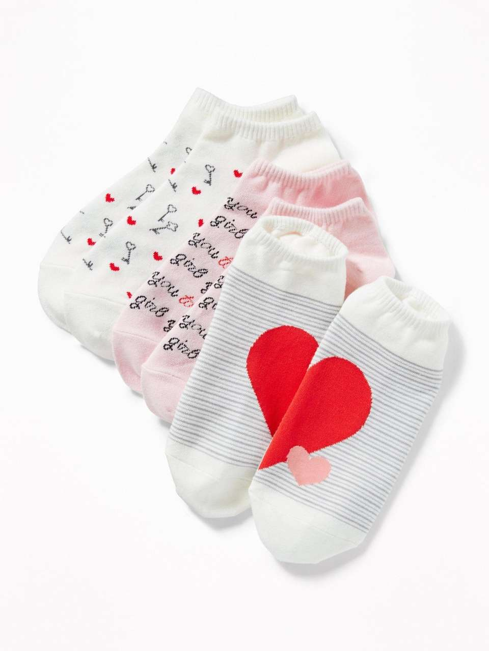 6fa38745bb2 Valentine s Day socks. This three-pack of ankle socks are made from