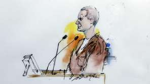 In this artist's rendering, Jared Lee Loughner makes