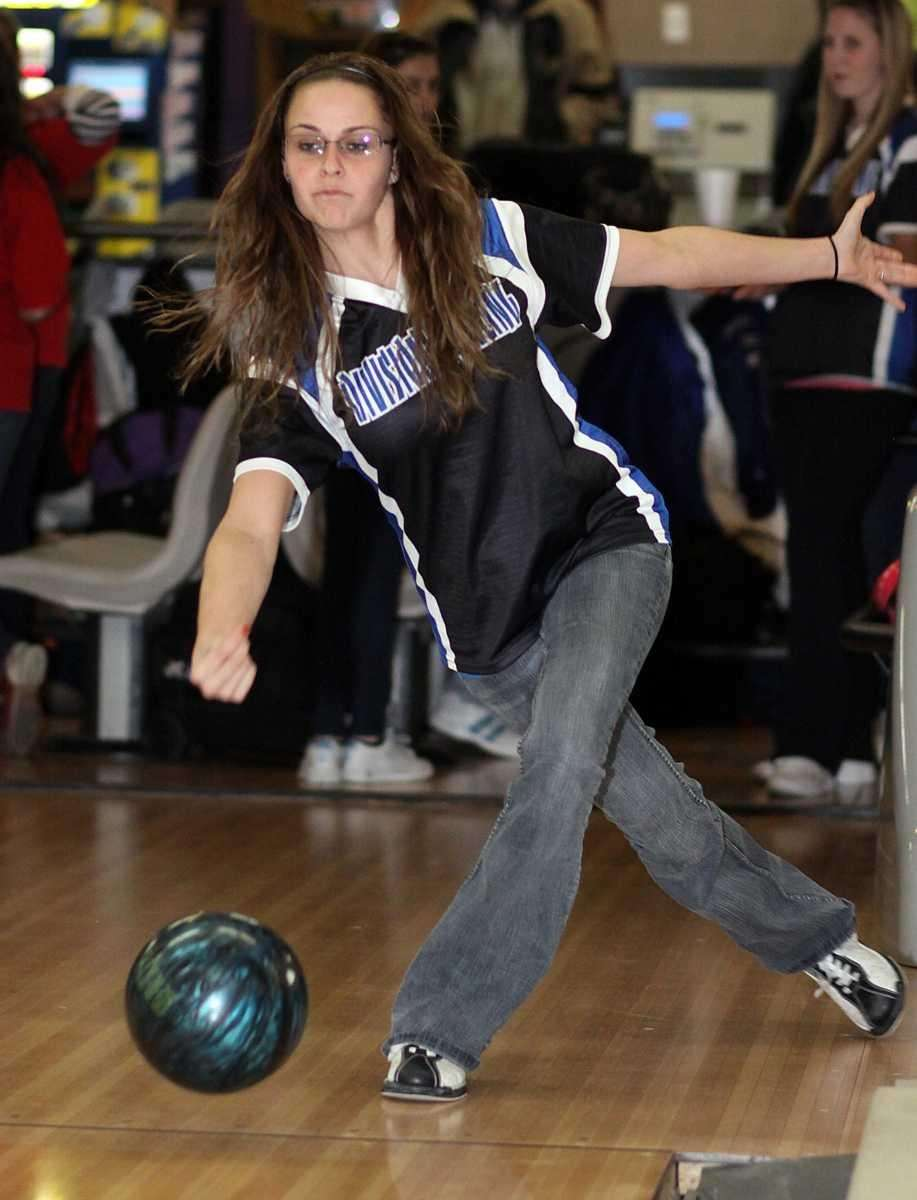 Division's Erica Schneider shows her form during a